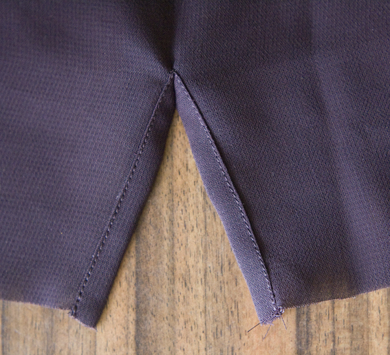 How to Sew a Continuous Bound Sleeve Placket - a sewing tutorial by Pattern Scissors Cloth
