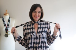 Ink Stain Print Blouse