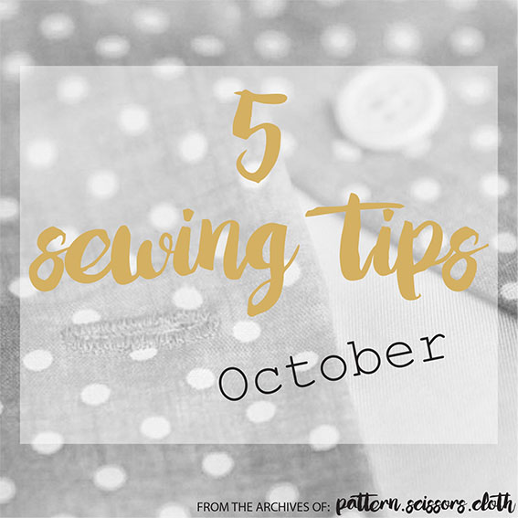 sewing tips oct