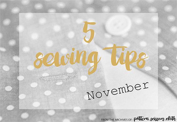 5 Sewing Tips big Nov