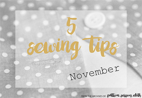 5 Sewing Tips big Nov