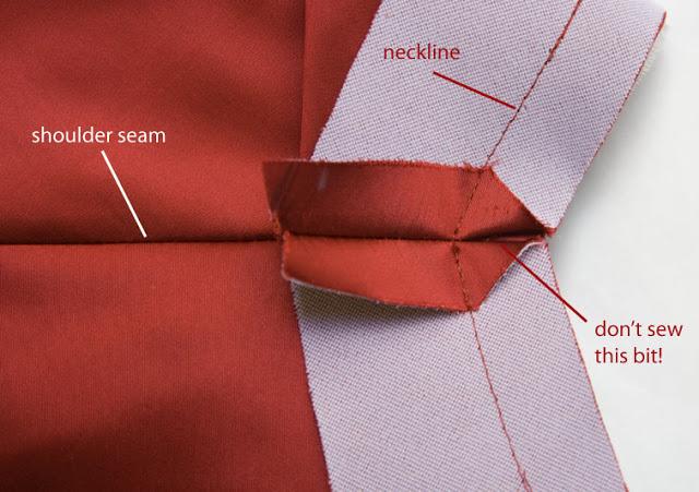 PatternScissorsCloth neckline angle
