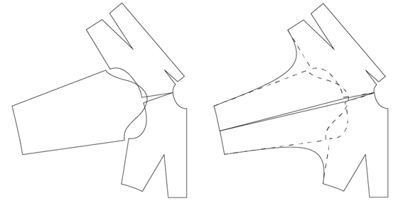 pattern.scissors.cloth kimono outline