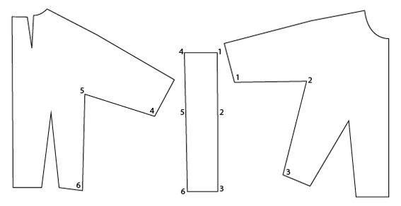 pattern.scissors.cloth kimono strap