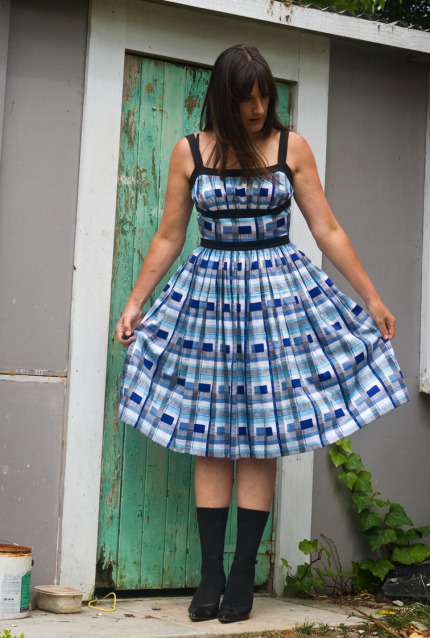 patternscissorscloth dress