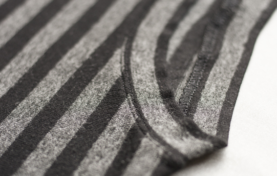 charcoal stripe tee