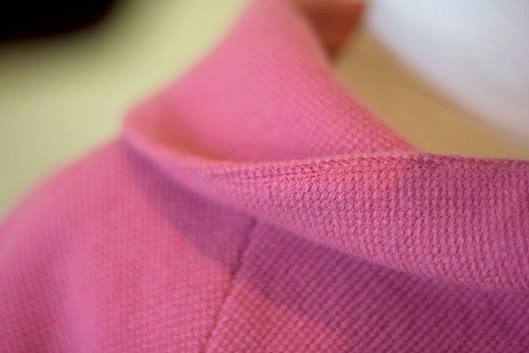 How a collar seam rolls to the underside - Pattern Scissors Cloth