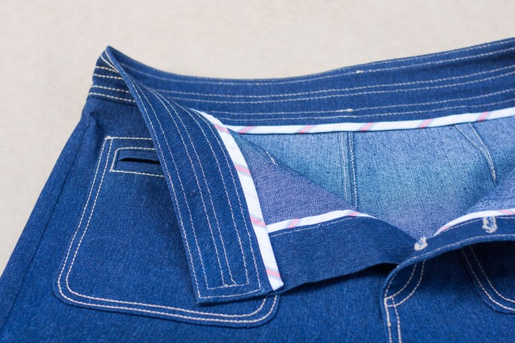 Denim Sailor Pant - Pattern Scissors Cloth