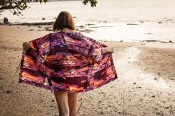 Pattern Scissors Cloth Kimono