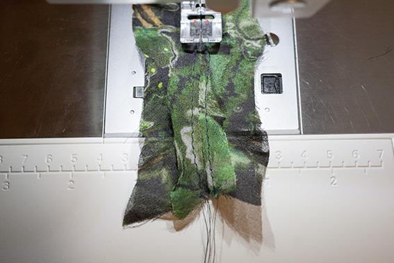 Sewing Ruffles on DP Studio Le 604 Shirt