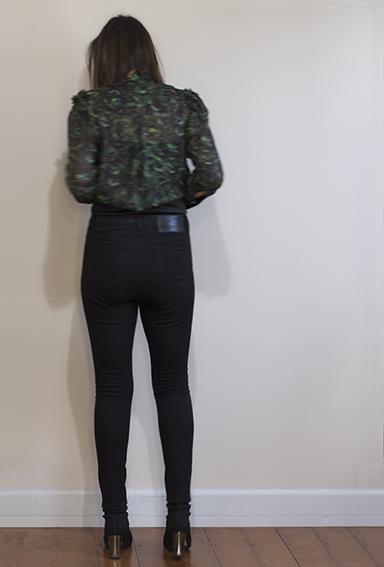Pattern Scissors Cloth Ash Jeans