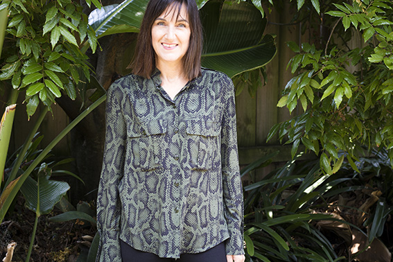 Pattern Scissors Cloth Snake Print Safari Shirt
