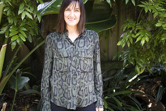 Pattern Scissors Cloth Snake Print Safari Shirt