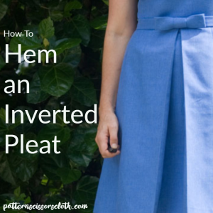 How To Hem An Inverted Pleat