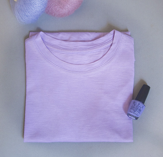 Lilac Basic InstincT Tshirt by Pattern Scissors Cloth